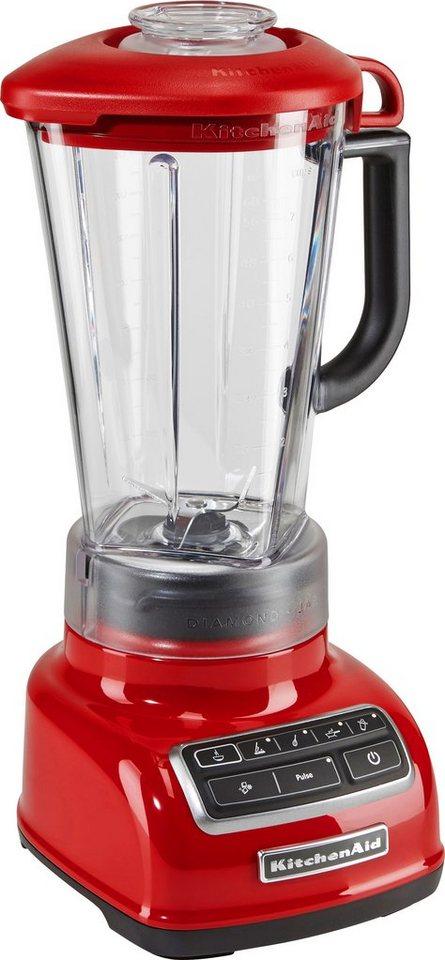 KitchenAid Standmixer 5KSB1585EER, 550 Watt, Stufenlos, empire rot in rot