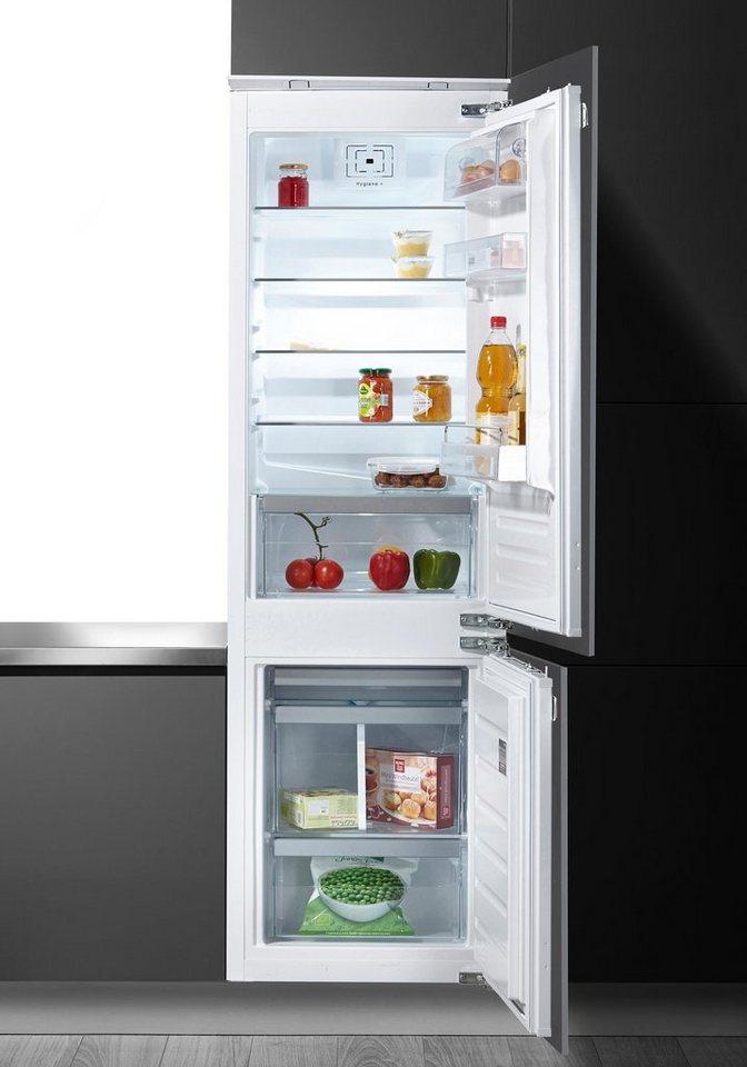 Einbaukühlgefrierkombination  BAUKNECHT Einbaukühlgefrierkombination KGIE 2085 A++, 177 cm hoch ...