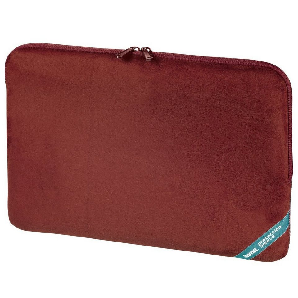 Hama Notebook-Sleeve Velour Style, bis 40 cm (15,6), Rot in Rot
