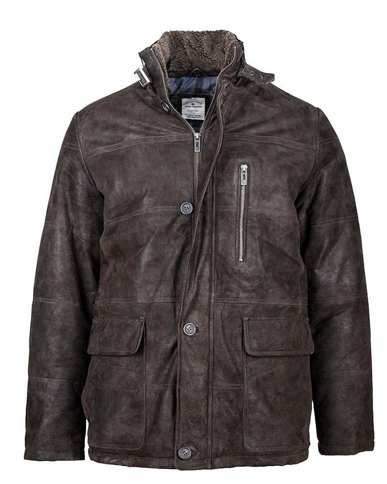 TOM TAILOR Lederjacke, Herren »32358« in dark brown