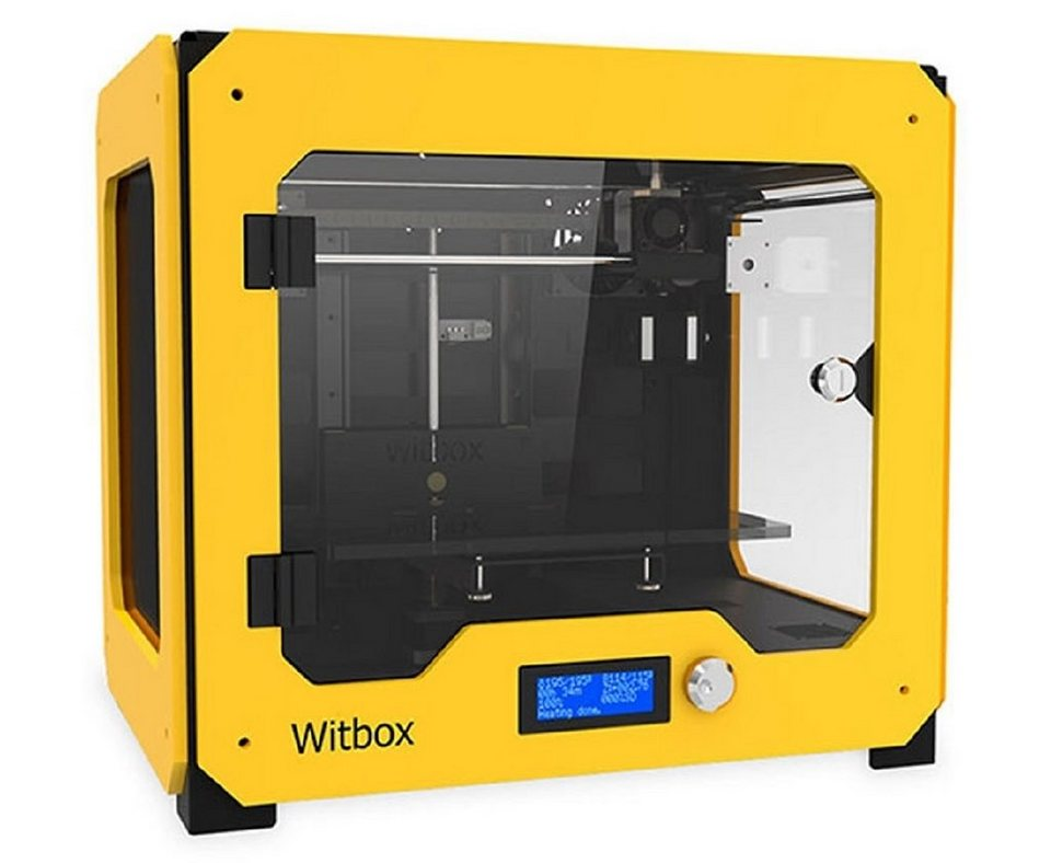 bq 3D Drucker mit Gratis-Set »Witbox« in gelb