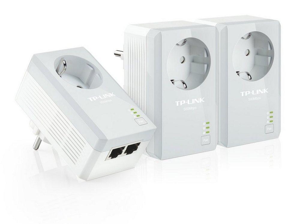 TP-Link Powerline »TL-PA4020P TKIT - AV500+ (3er KIT, 2x LAN)« in Grau
