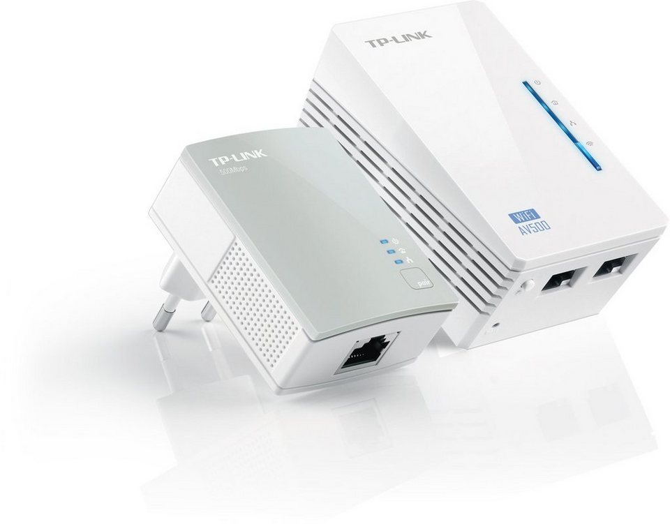TP-Link Powerline »TL-WPA4220KIT - AV500 (2er KIT, 2x LAN)« in Weiß