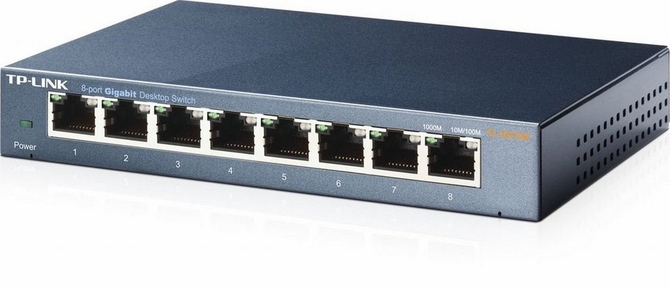 TP-Link Switch »TL-SG108 - 8-Port Gigabit« in Schwarz