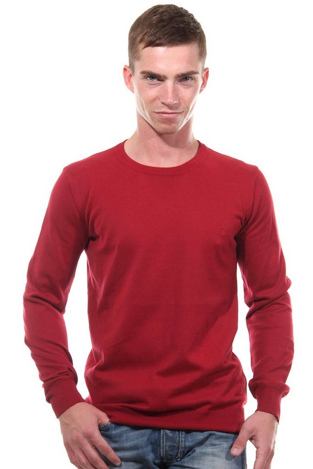 CAZADOR Pullover Rundhals regular fit in rot