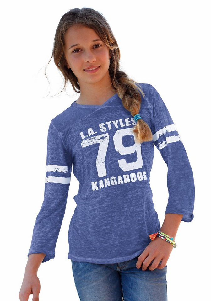KangaROOS 3/4-Arm Shirt, für Mädchen in blau