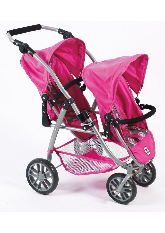 CHIC2000, Tandem-Puppenbuggy »Vario, Hot PinkPearls«