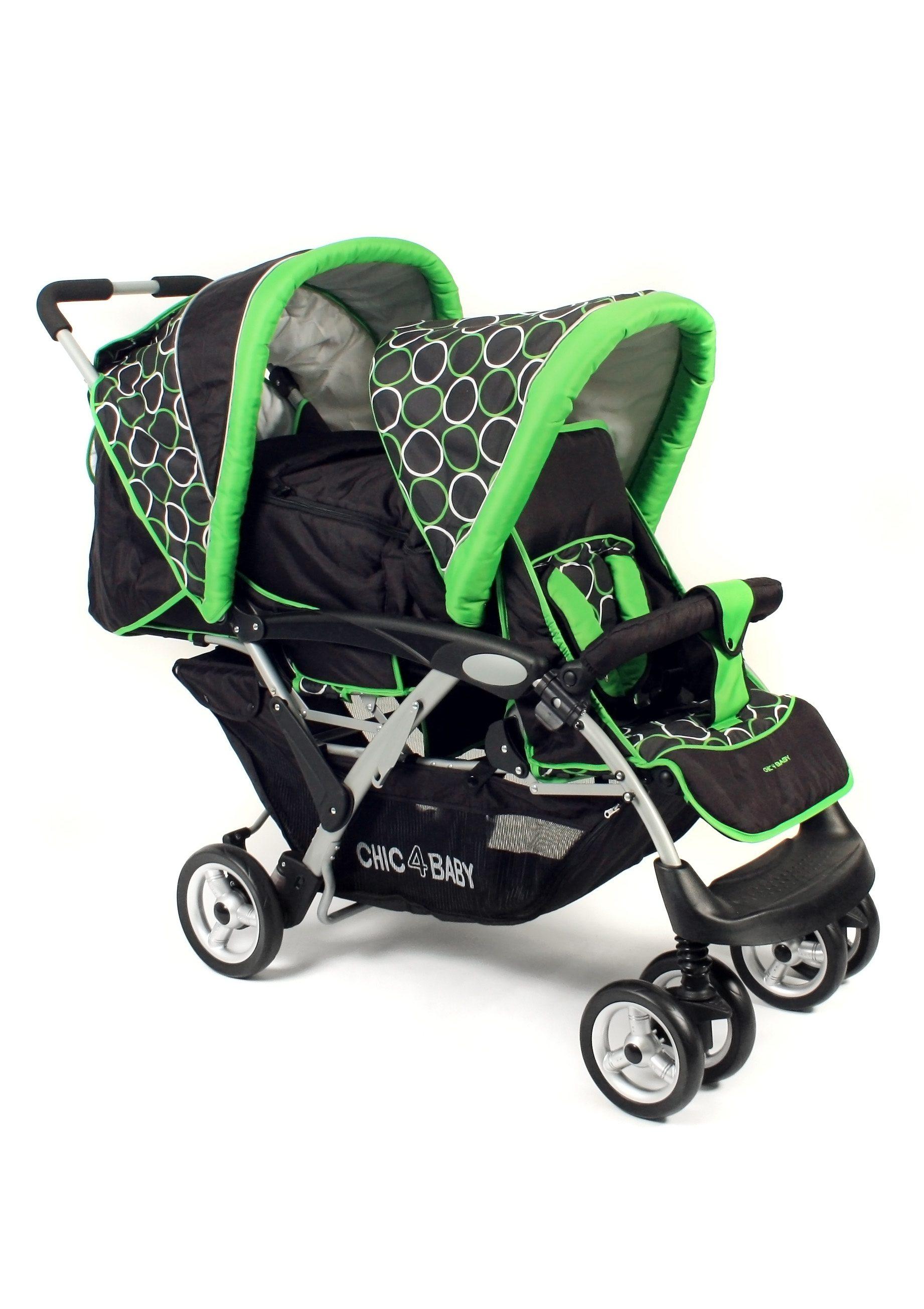 CHIC4BABY, Geschwister-Kinderwagen »Duo, Orbit green«
