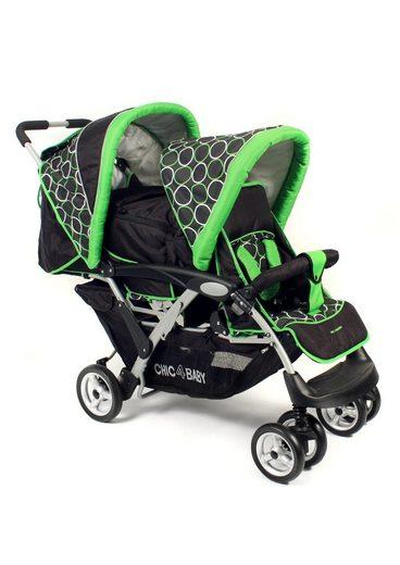 chic4baby geschwister kinderwagen duo orbit green. Black Bedroom Furniture Sets. Home Design Ideas