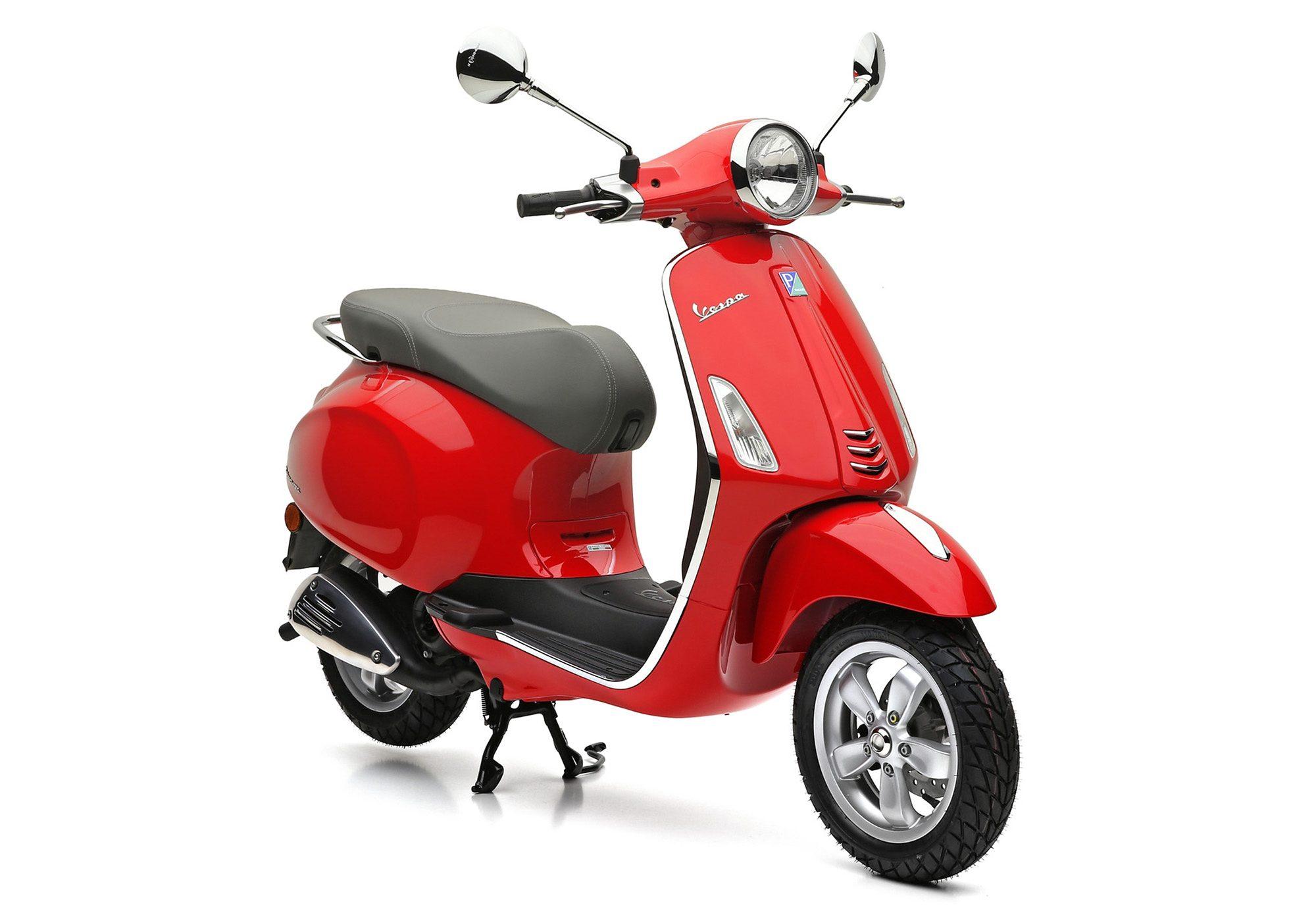 Motorroller, 49 ccm, 4,35 PS, 45 km/h, rot, »Primavera«, Vespa