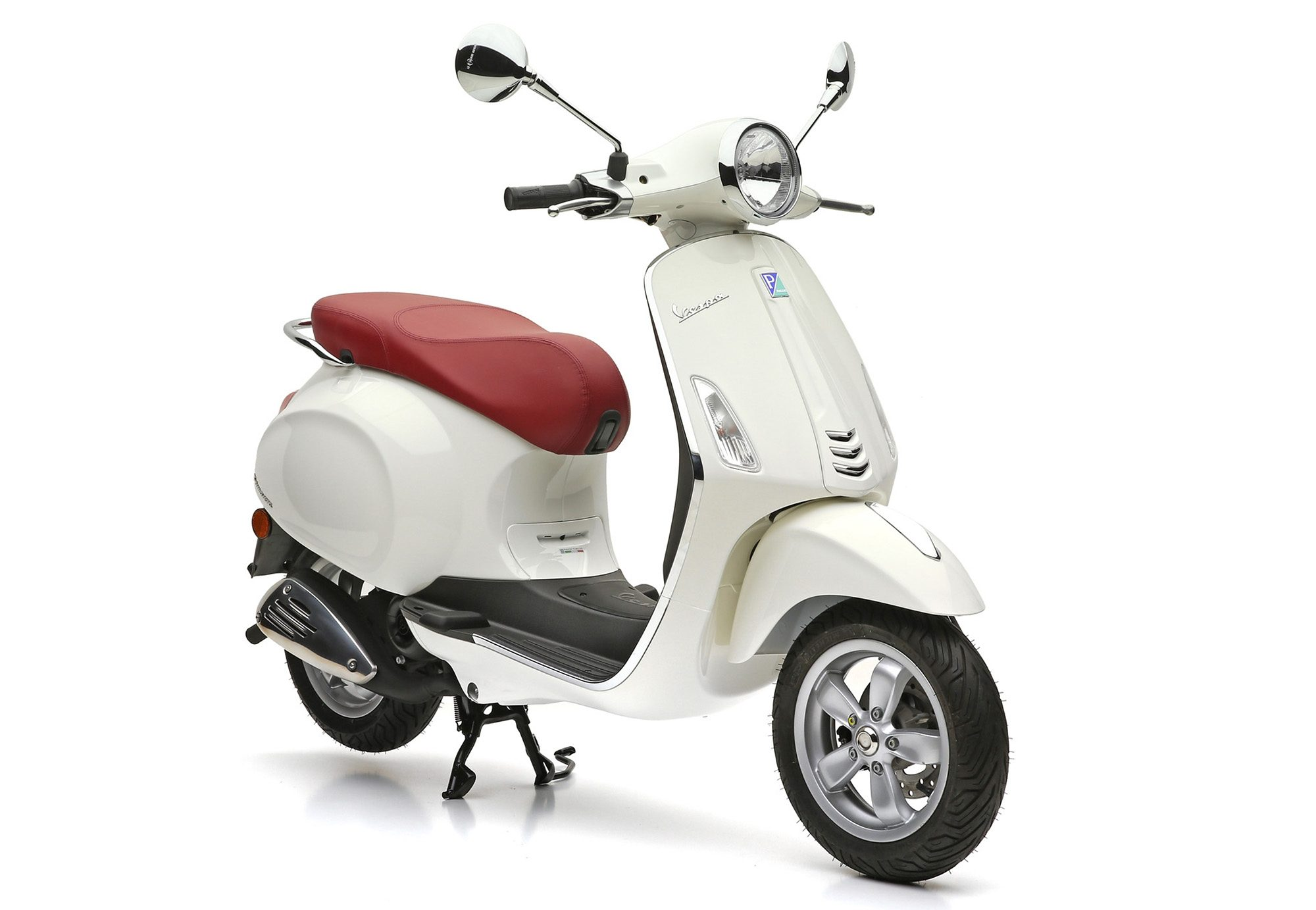 Mofaroller, 49 ccm, 4,35 PS, 25 km/h, weiss, »Primavera«, Vespa