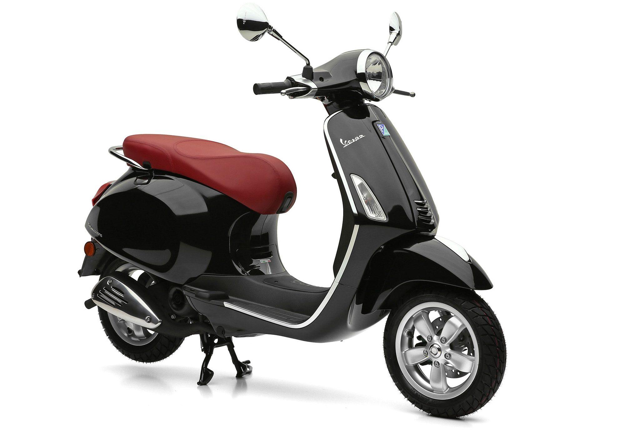Mofaroller, 49 ccm, 4,35 PS, 25 km/h, schwarz, »Primavera«, Vespa