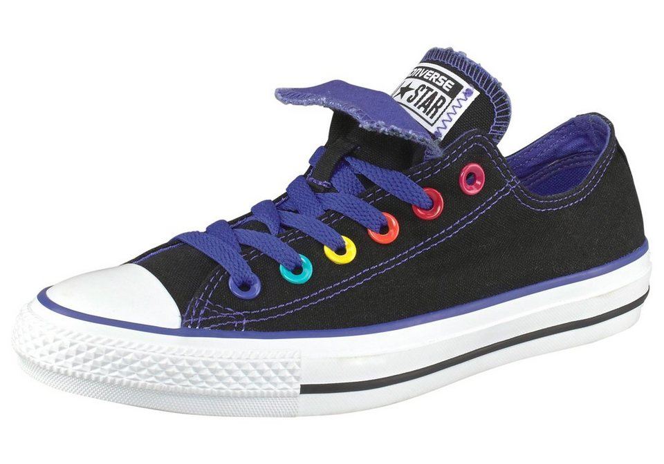 Converse Chuck Taylor All Star Double Tongue Ox Sneaker in Schwarz