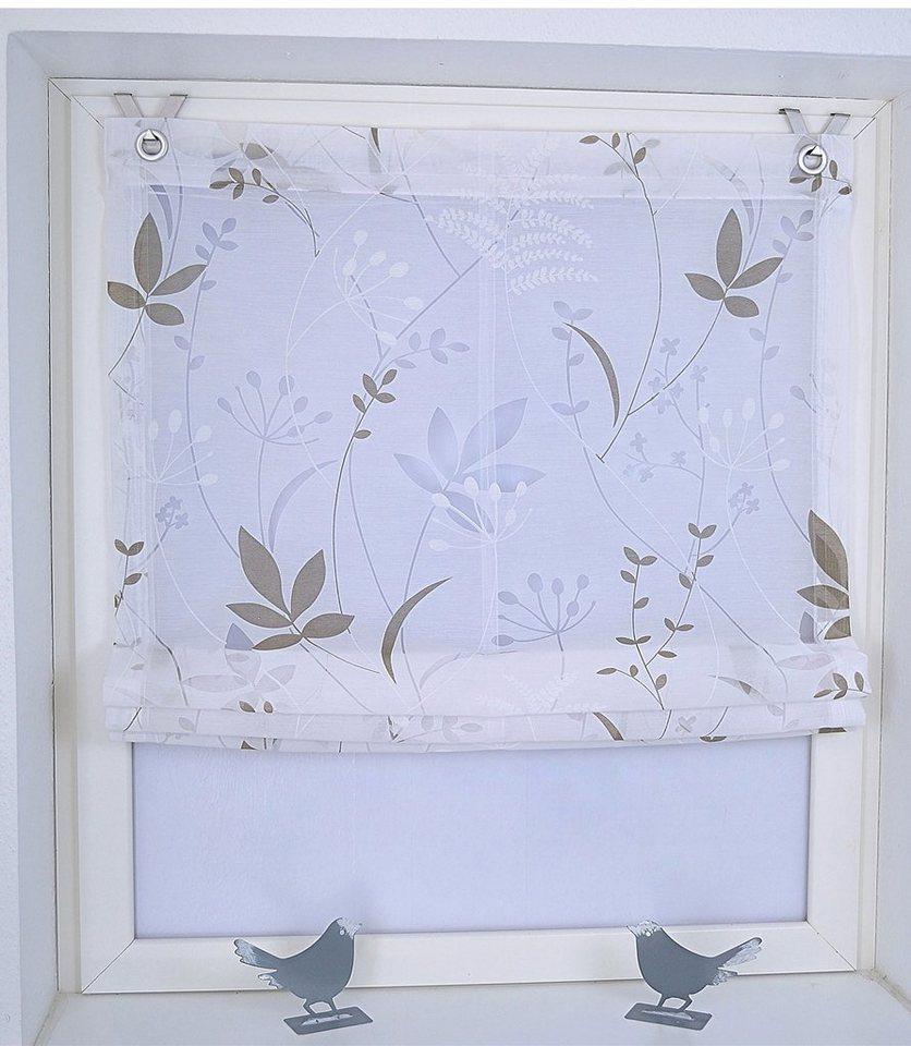 raffrollo dandelion marc kutti mit hakenaufhaengung