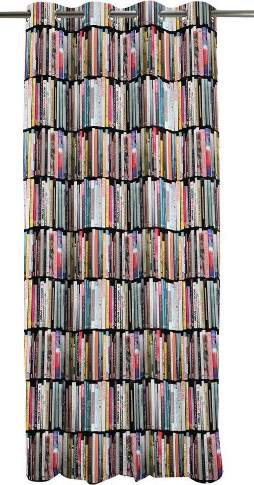 Vorhang, Apelt, »Libri«, Ösenschal in multicolor