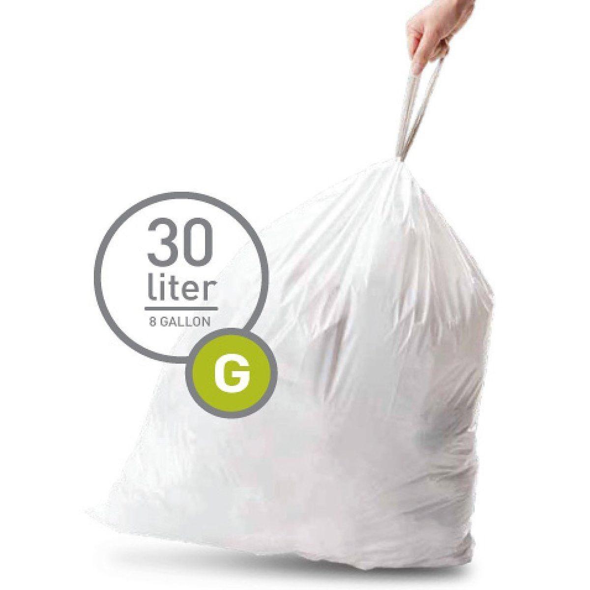 Simplehuman simplehuman 20 Müllbeutel G 30 l weiß