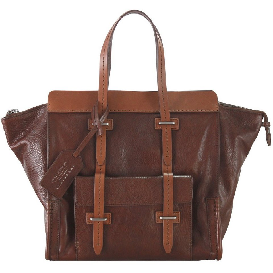 The Bridge The Bridge Ascott Handtasche Weekender Leder 36 cm in marrone-matt rutheni