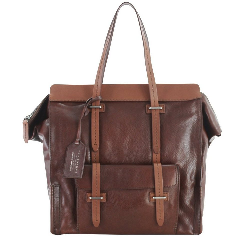 The Bridge The Bridge Ascott Handtasche Weekender Leder 40 cm in marrone-matt rutheni