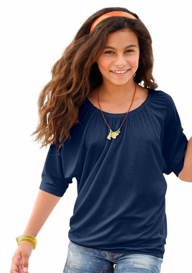 CFL 3/4-Arm-Shirt mit Fledermausärmeln in blau-marine