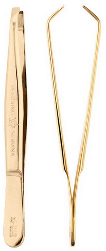 Pfeilring, Augenbrauenpinzette in gold