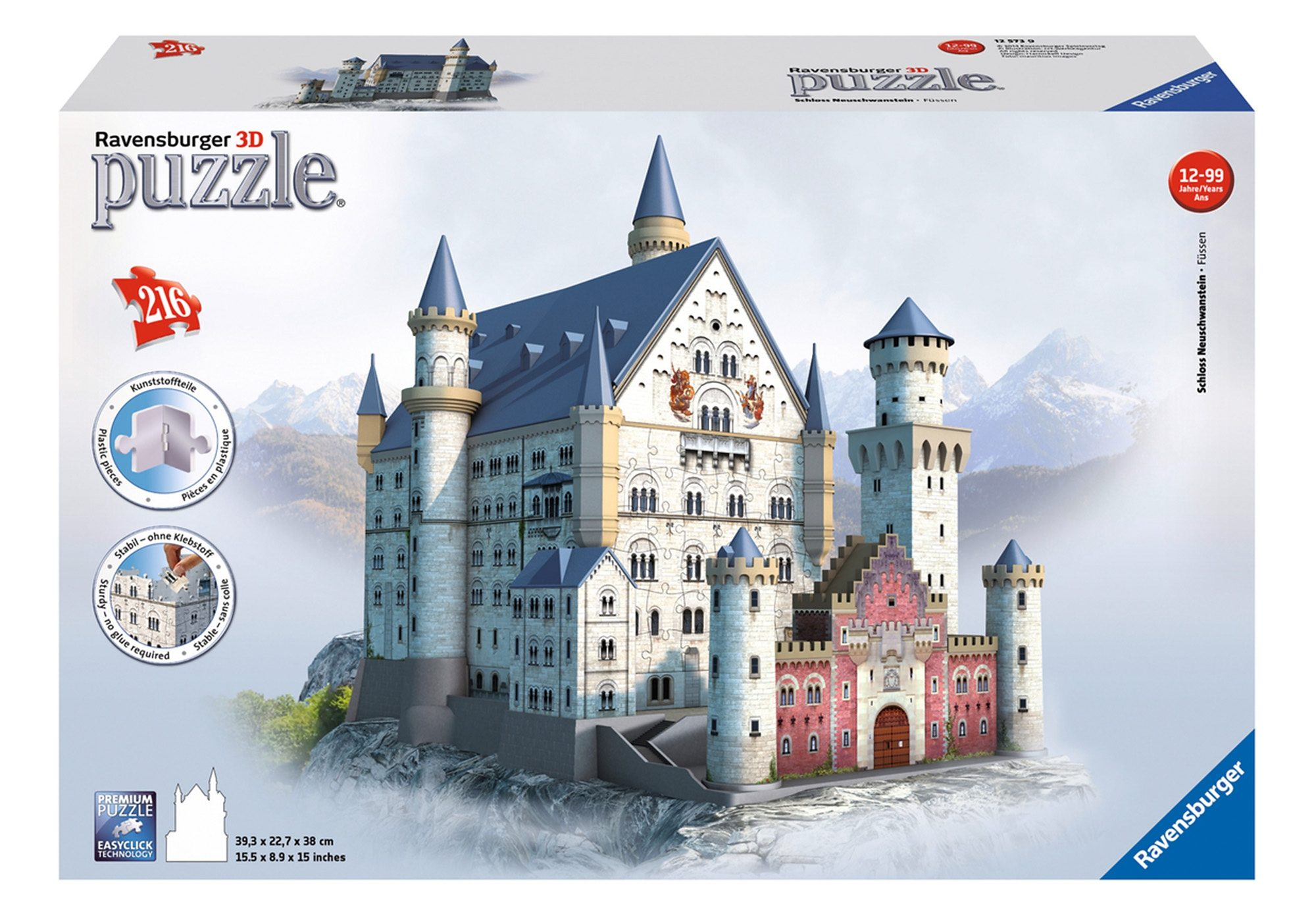 Ravensburger 3D Puzzle 216 Teile, »Schloss Neuschwanstein«