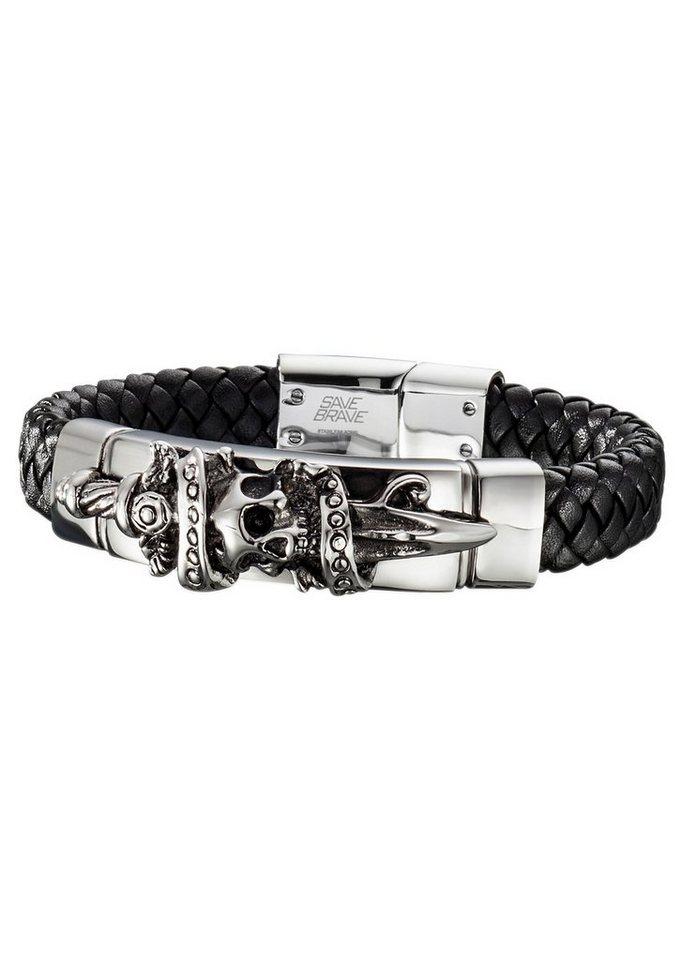 Armband Jack, »SBB-JACK-21« in silberfarben/schwarz
