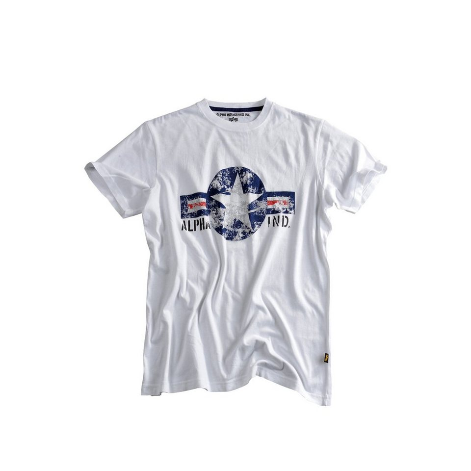 ALPHA INDUSTRIES T-Shirt »USAF T « in white