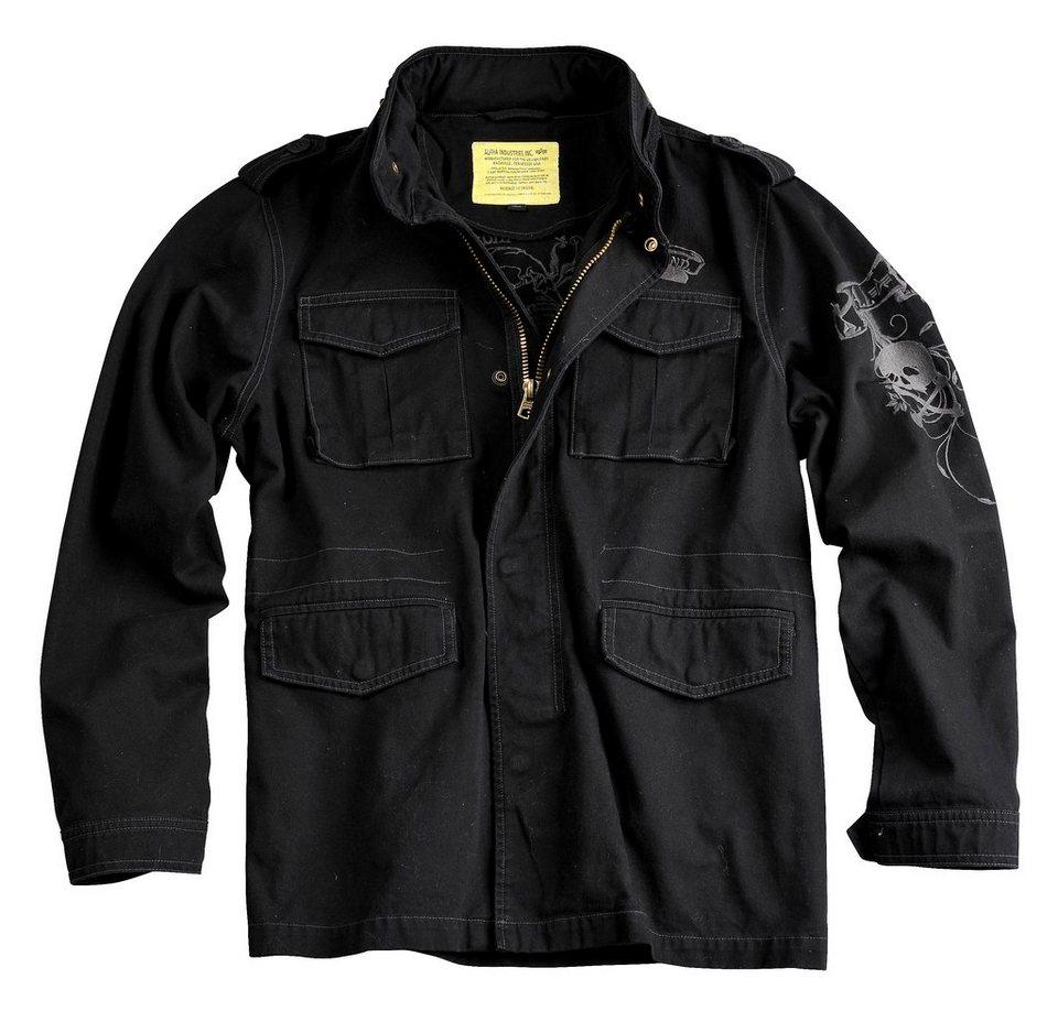 ALPHA INDUSTRIES Jacke »Skull Jkt« in black