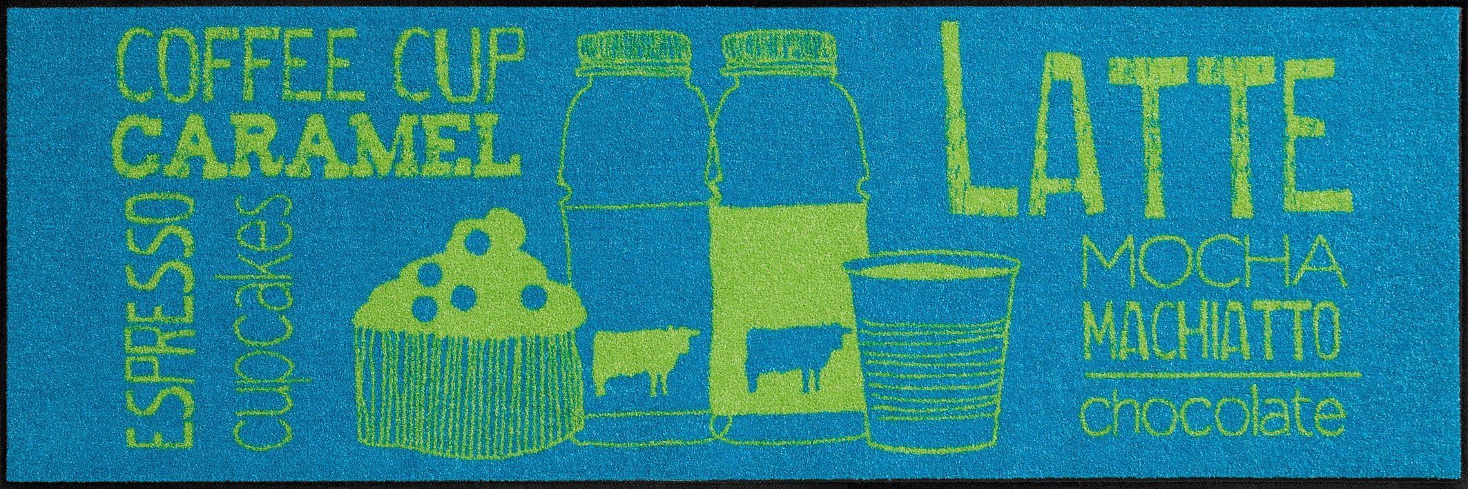 Küchenläufer »Coffeehouse«, Salonloewe, rechteckig, Höhe 7 mm, waschbar, In- und Outdoor, rutschhemmende Beschichtung
