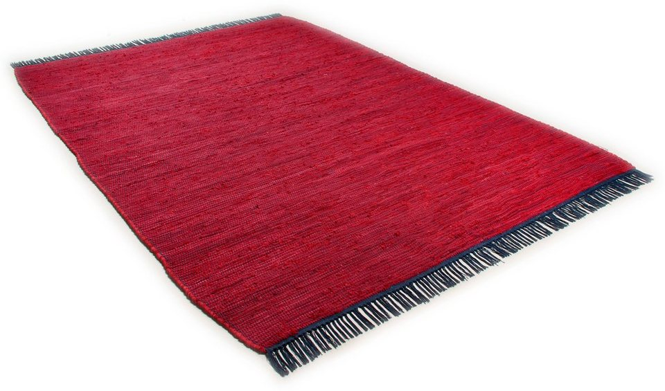 Teppich, Tom Tailor, »Cotton Colors«, handgearbeitet in rot