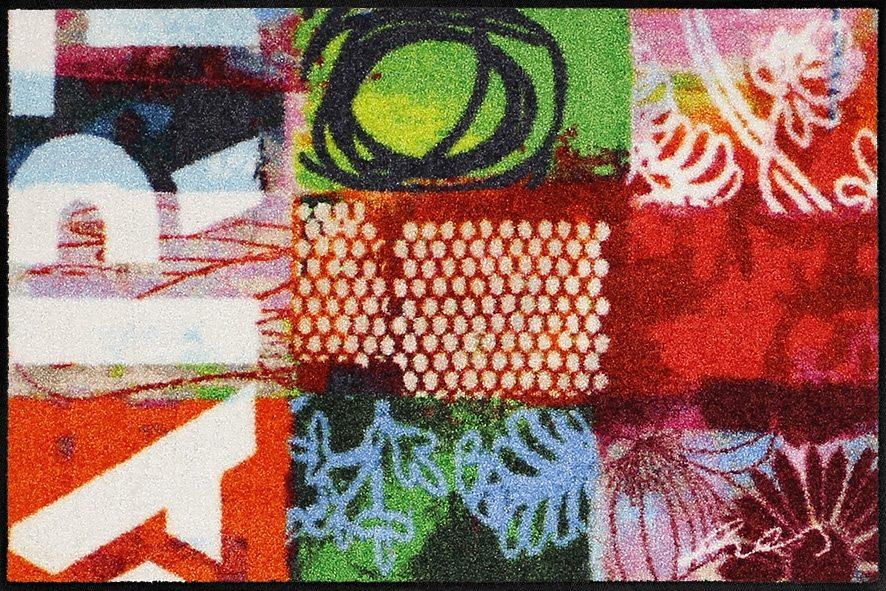 Fußmatte »Contemporary by Anna Flores«, Salonloewe, rechteckig, Höhe 7 mm, waschbar, In- und Outdoor