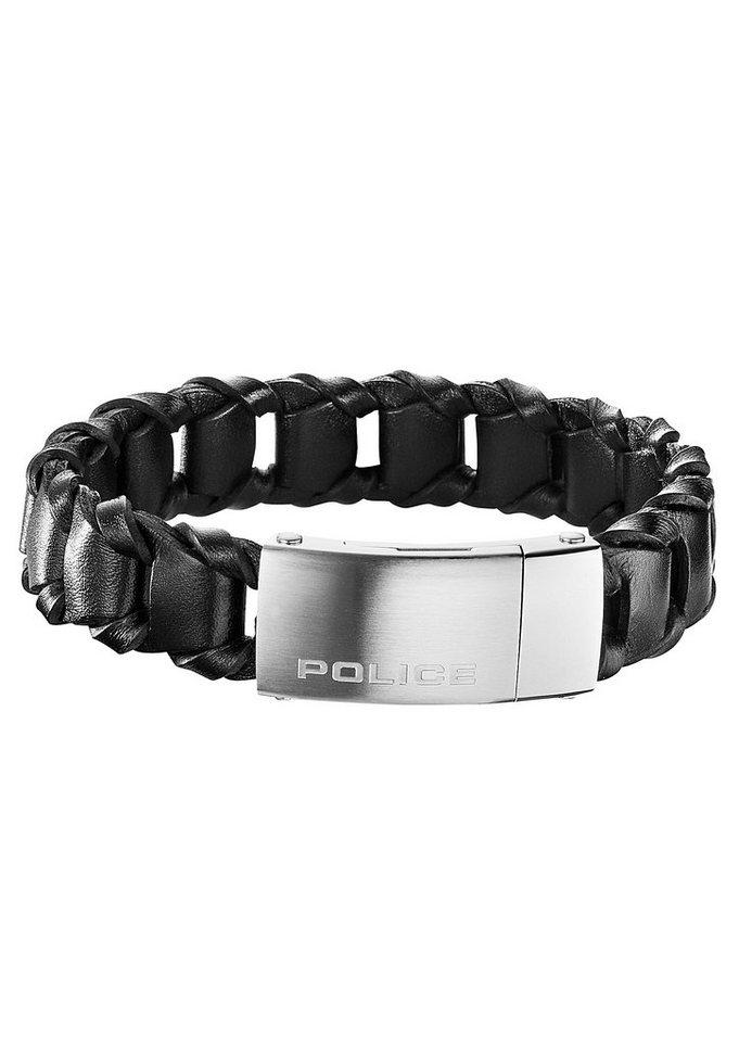 Armband, »Federate, PJ25497BLB-01-L«, Police in silberfarben/schwarz