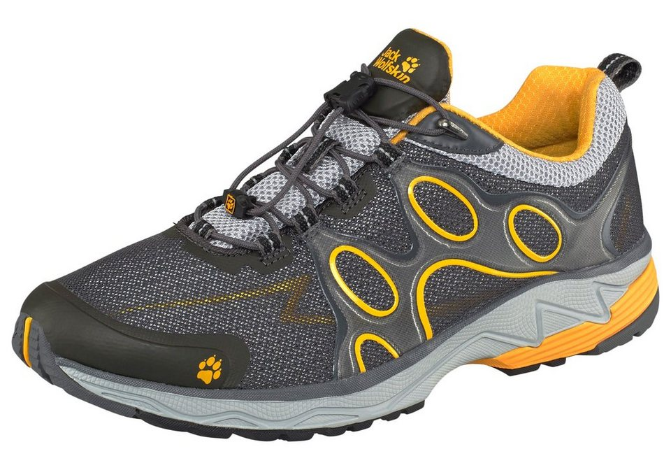 Jack Wolfskin Passion Trail Low M Laufschuh in Anthrazit-Gelb