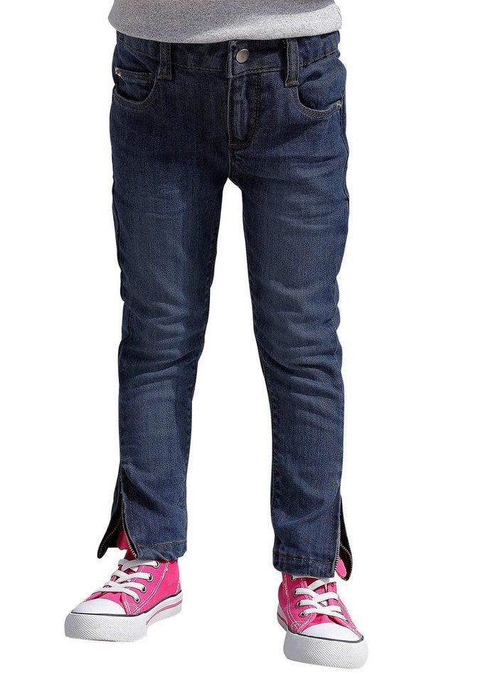 Arizona 5-Pocket-Jeans mit Reißverschluss am Saum in dark-denim