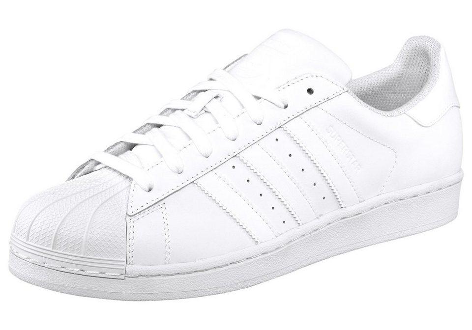 adidas Originals »Superstar« Sneaker aus strapazierfähigem Obermaterial in weiß