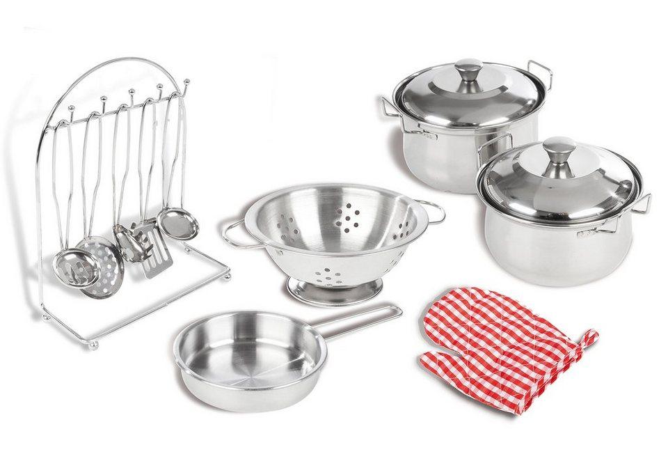 Küchen zubehör kinder  Pinolino Kochgeschirr für Kinderspielküche, »Küchenzubehör«, 13-tlg ...