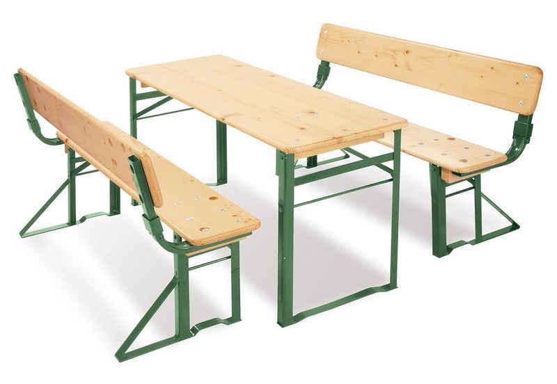 Pinolino® Kindersitzgruppe »Kinderfestzeltgarnitur mit Lehne, Sepp«, (3-tlg)