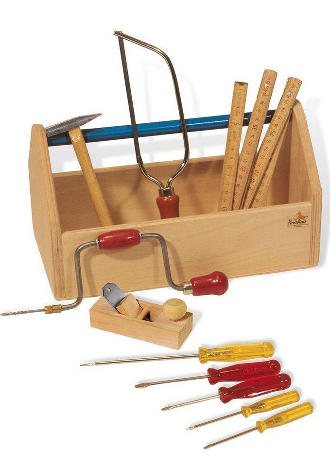 Pinolino Werkzeugkiste mit Werkzeug,11-tlg. in natur