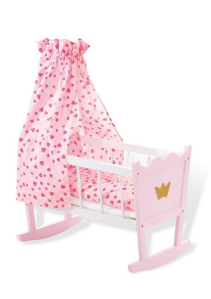 Pinolino Puppenwiege »Prinzessin Fee« in rosa