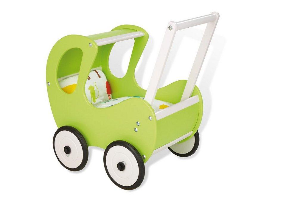 Pinolino Lauflern- und Puppenwagen, »Hugo«, grün in grün