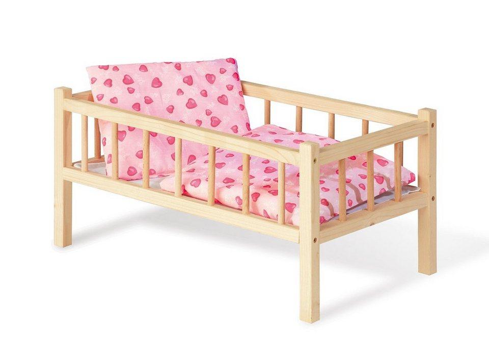 pinolino puppenbett aus holz andrea herzchen otto. Black Bedroom Furniture Sets. Home Design Ideas