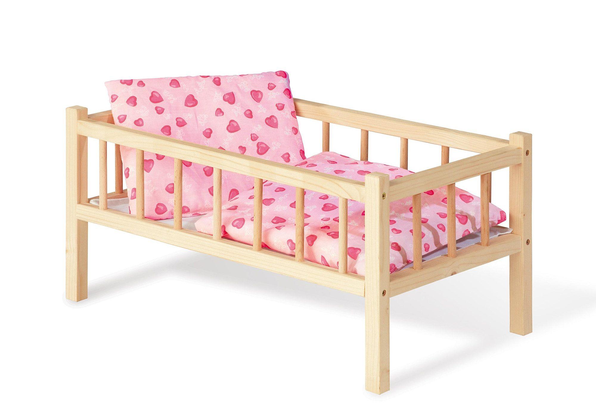 Pinolino Puppenbett aus Holz »Andrea - Herzchen«