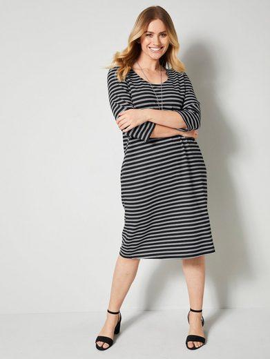 Sara Lindholm by Happy Size Kleid mit Streifendessin
