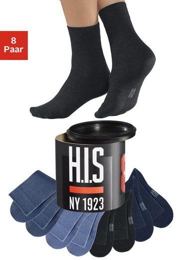 H.I.S Socken (Dose, 8-Paar) in der Geschenkdose