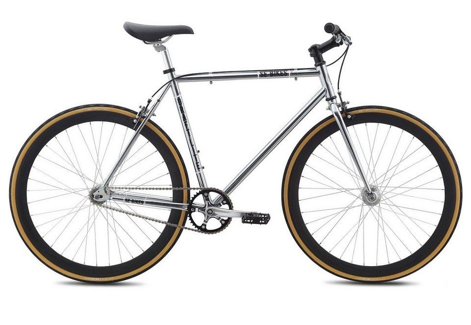 Herren Alu Singlespeed, Urban, 1 Gang, 28 Zoll, Chromfarben, »DRAFT LITE«, SE Bikes in chromfarben