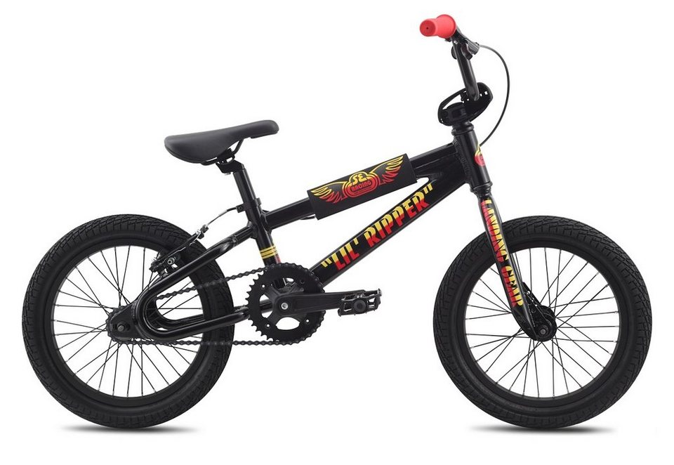 BMX Alu Rad, Mid-Level, 16 Zoll, »LIL RIPPER«, SE Bikes in schwarz - metallic