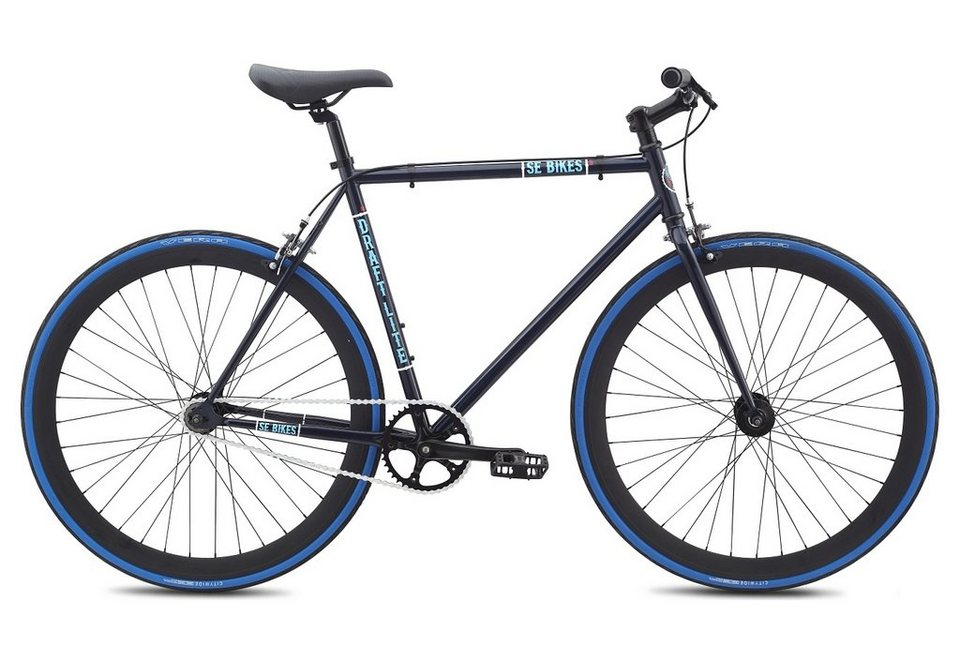 herren alu singlespeed fahrrad urban 1 gang 28 zoll blau draft lite se bikes online. Black Bedroom Furniture Sets. Home Design Ideas