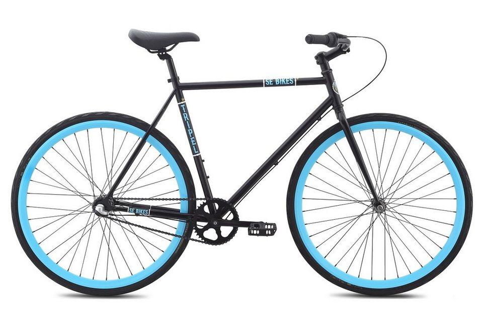 herren alu singlespeed fahrrad 28 zoll urban mattschwarz tripel se bikes online kaufen otto. Black Bedroom Furniture Sets. Home Design Ideas