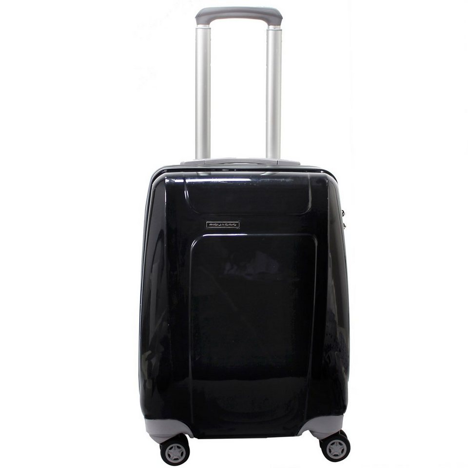 Piquadro Four-Wheels 4-Rollen Kabinentrolley 52 cm in schwarz grau