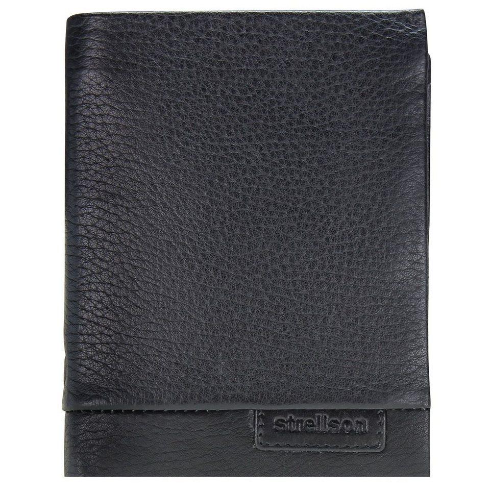 Strellson Garret BillFold V8 Geldbörse Leder 10,5 cm in black